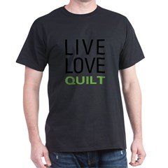 Live Love Quilt Dark T-Shirt