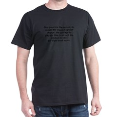 Scrabble Serenity Prayer Dark T-Shirt