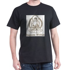 Vintage Buddha Inquire Within Dark T-Shirt