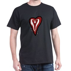 Valentine Dotty Heart Dark T-Shirt