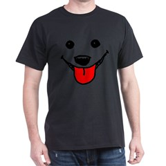 Happy Dog Face Dark T-Shirt