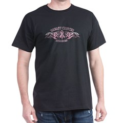 Breast Cancer Biker Dark T-Shirt