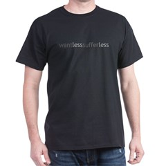 Want Less - Suffer Less - Grey Tex Dark T-Shirt