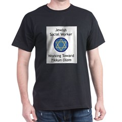 Jewish Social Worker Dark T-Shirt