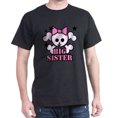 Pink bow skull big sister Dark T-Shirt