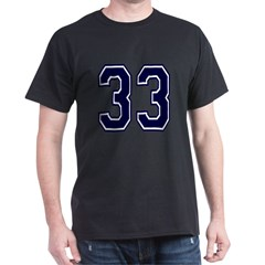 NUMBER 33 FRON Dark T-Shirt