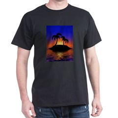 sunrise-sunset--palm-tree-s.jpg Dark T-Shirt