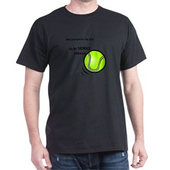 Tennis: Serve Others Men's Sports T-Shirt Dark T-Shirt