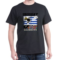 Uruguay World Soccer Futbol Dark T-Shirt