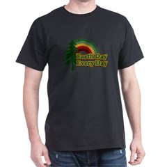 Earth Day Every Day Retro Dark T-Shirt