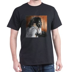 Borzoi by Dawn Secord Dark T-Shirt
