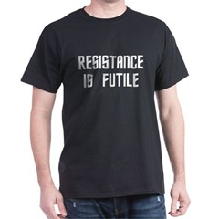 Resistance Is Futile Men''s Dark T-Shirt