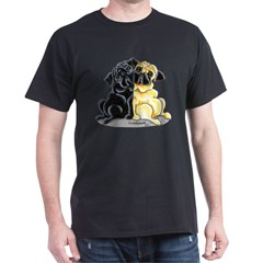 Black Fawn Pug Dark T-Shirt