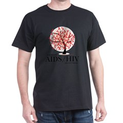 AIDS/HIV Tree Dark T-Shirt