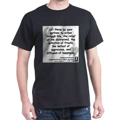 Greene Action Quote Dark T-Shirt