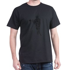 Lacrosse Terminology Dark T-Shirt