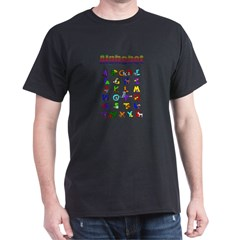 Colorful Alphabet Dark T-Shirt