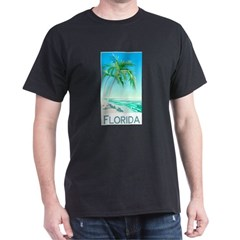 Florida Palms Ash Grey Dark T-Shirt