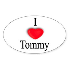 Tommy Rectangle Sticker (Oval 50 pk)