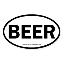 BEER Oval Sticker (Oval 50 pk)