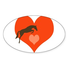 horse hearts Oval Sticker (Oval 50 pk)