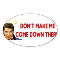 Dont make me! Sticker (Oval 50 pk)