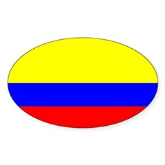 Colombia Flag Rectangle Sticker (Oval 50 pk)