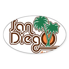 San Diego California Rectangle Sticker (Oval 50 pk)