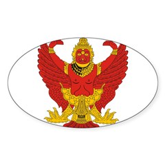 Thailand Emblem Oval Sticker (Oval 50 pk)