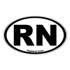 Registered Nurse Oval Sticker (Oval 50 pk)
