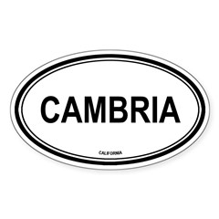 Cambria oval Oval Sticker (Oval 50 pk)