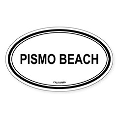 Pismo Beach oval Oval Sticker (Oval 50 pk)