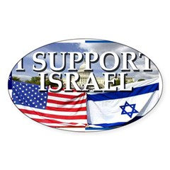 I Support Israel Rectangle Sticker (Oval 50 pk)
