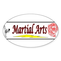 Tiger Martial Arts Sticker (Oval 50 pk)