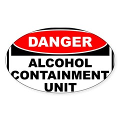 Alcohol Containment Rectangle Sticker (Oval 50 pk)
