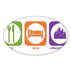Eat Sleep Urban Rectangle Sticker (Oval 50 pk)
