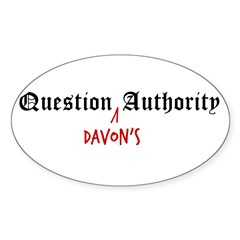 Question Davon Authority Sticker (Oval 50 pk)