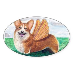 Corgi Rectangle Sticker (Oval 50 pk)