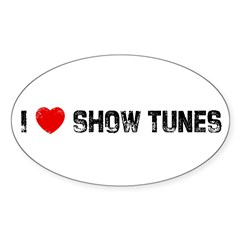 I * Show Tunes Sticker (Oval 50 pk)