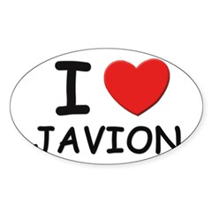 I love Javion Rectangle Sticker (Oval 50 pk)