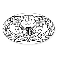 Force Protection Badge Rectangle Sticker (Oval 50 pk)