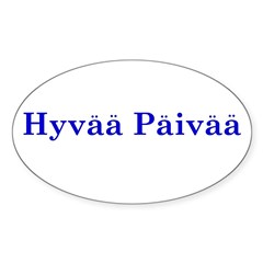 Hyvää Päivää Rectangle Sticker (Oval 50 pk)