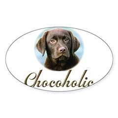 Chocoholic Rectangle Sticker (Oval 50 pk)