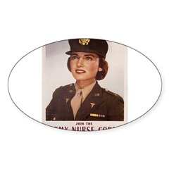 Army Nurse Corps Rectangle Sticker (Oval 50 pk)
