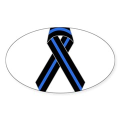 Memorial Ribbon Rectangle Sticker (Oval 50 pk)