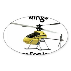 Helicopter Rectangle Sticker (Oval 50 pk)