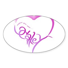Haley purple heart Rectangle Sticker (Oval 50 pk)