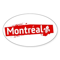 'Montreal' Rectangle Sticker (Oval 50 pk)