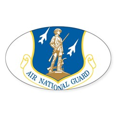 Air National Guard Rectangle Sticker (Oval 50 pk)