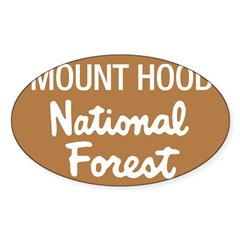 Mount Hood (Sign) National Fo Sticker (Rectangular Sticker (Oval 50 pk)
